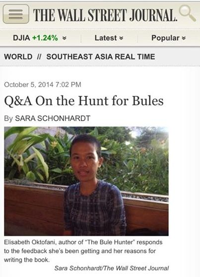 Q&A On the Hunt for Bules by Sara Schonhardt  of The Wall Street Journal [2014]